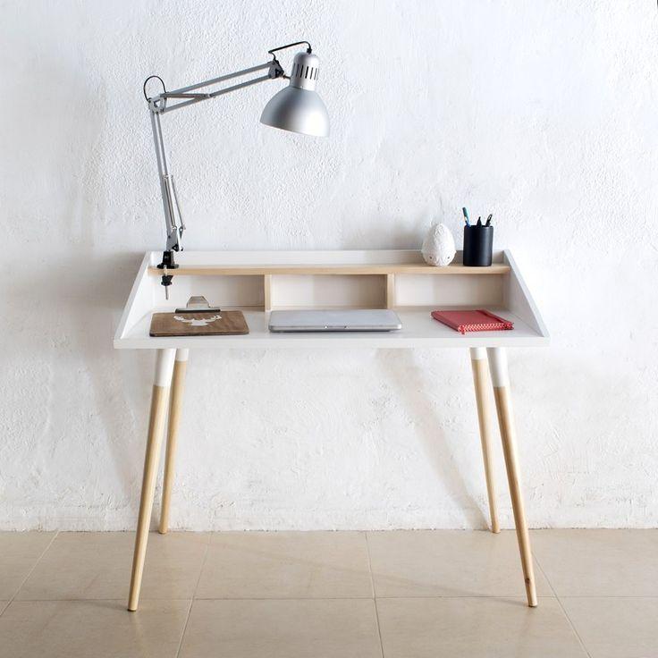Escritorio elegante y práctico perfecto para habitaciones de estilo nórdico y con un aire minimalista - Minimoi