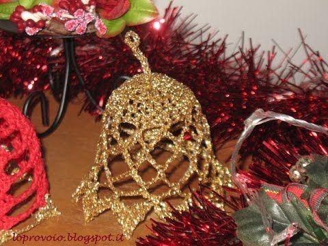 ▶ Campanella natalizia all'uncinetto - YouTube