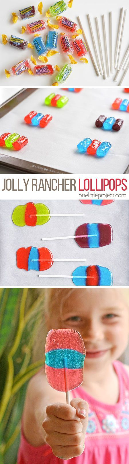 These Jolly Rancher lollipops are SO EASY to make and they are so fun! Such a great party favour idea or even just a fun activity for a Sunday afternoon!