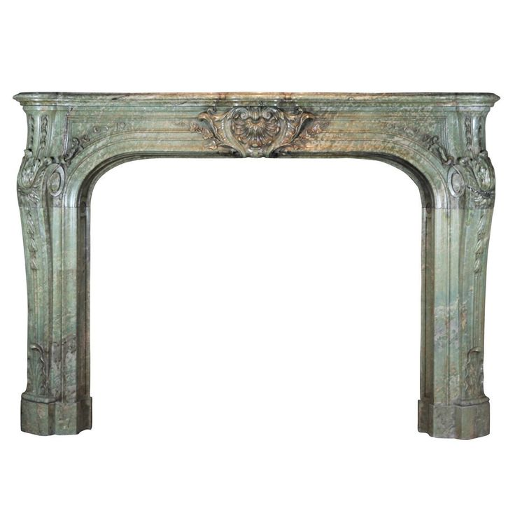 End of 19th Century Rococo Revival Period of the Third Republic in Green Marble