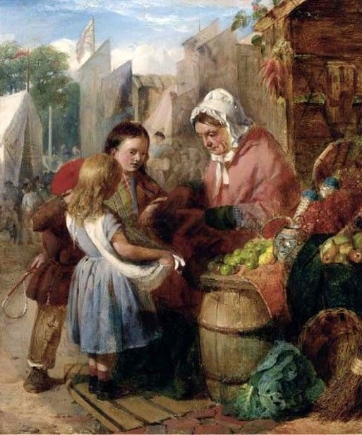 Edward Charles Barnes ~ British Painter 1830-1890 ~ The Market Fair