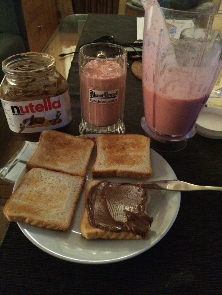 #nutella #toast #strawberry #strawberries #coctail