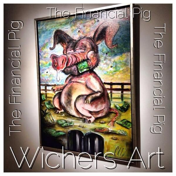 The Financial Pig - Bank Package I 60x80 cm.