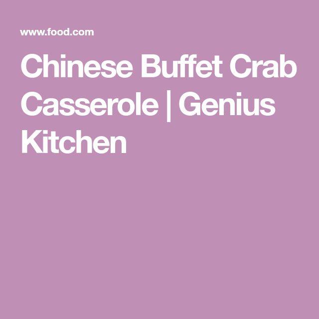 Chinese Buffet Crab Casserole | Genius Kitchen