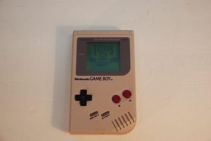 Vintage Original NES Grey Gameboy with Tetris 2 Game #Nintendo