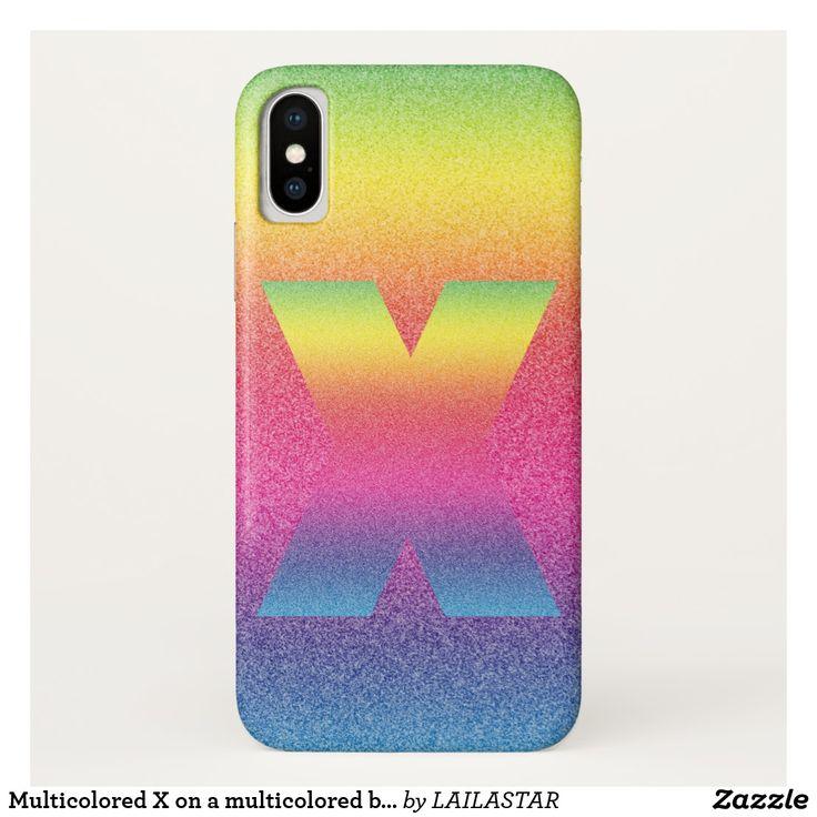 Funda Para iPhone X X multicolor en un fondo multicolor