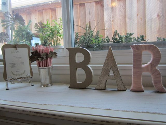 Wedding bar decor