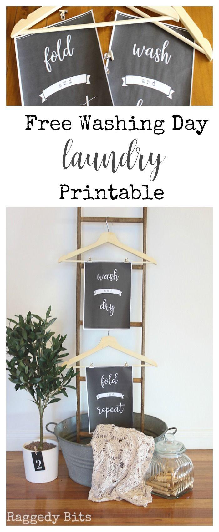 Free Washing Day Laundry Printables Cute Home Decor Decor Diy