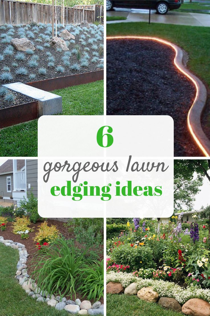 Pretty ideas for lawn and garden edging. Landscaping tips for beginners.  Gardening, Lawn, Lawn Edging, Lawn Edging Ideas, Yard and Landscape, Landscape Design Tips, Garden Border, Yard Border Ideas