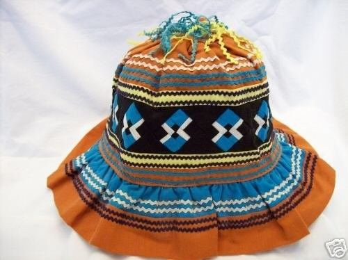 NATIVE AMERICAN-SEMINOLE PATCHWORK HAT - 1980's