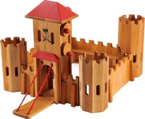 Drewart-mittelgrosses-Kastell-Dach-rot-Ritterburg-Holz-0220-NEU