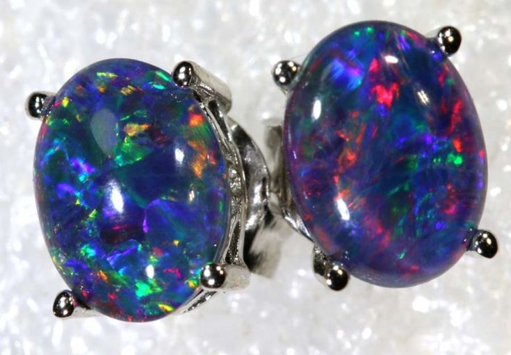 6.8 CTS TRIPLET OPAL SILVER EARRINGS OF-2148
