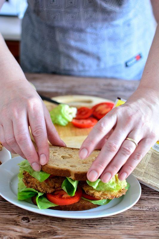Sandvis de post cu chiftelute din legume (fara gluten)