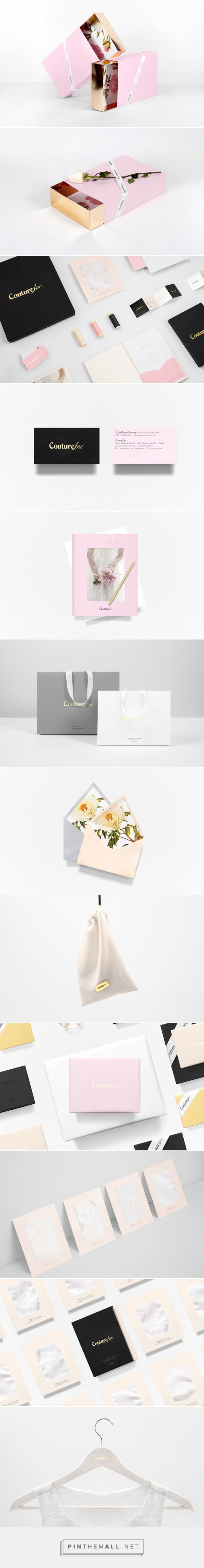 Couture Inc. #packaging by Anagrama - http://www.packagingoftheworld.com/2015/02/couture-inc.html                                                                                                                                                                                 More