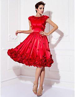 A-line Jewel Knee-length Stretch Satin Cocktail Dress (94941... – USD $ 119.99