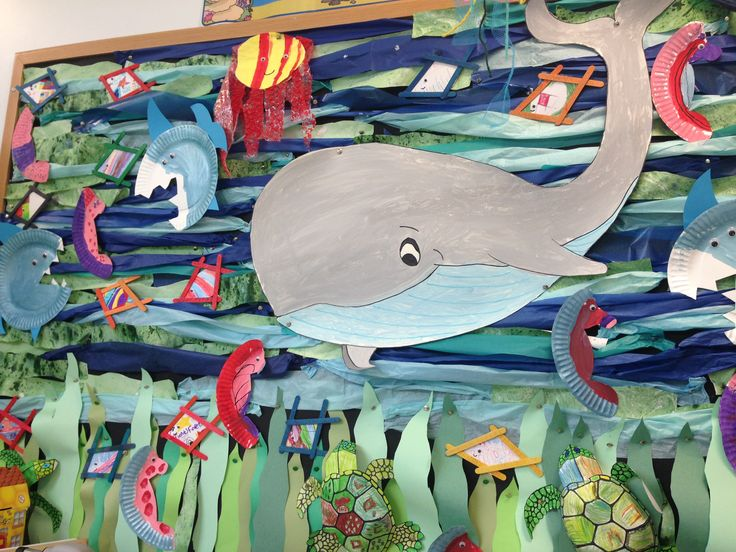 Love this idea for an under water  classroom display. Love the fish made out of lolly pop sticks! Sent in by one of our twinkl members!