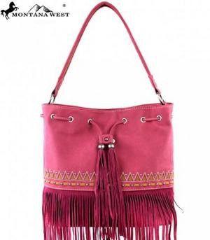 Montana West Red Fringe Collection Bag - Keffeler Kreations | HilltopBoutique.com - 1