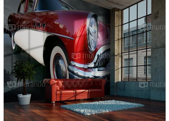 Červené retro auto