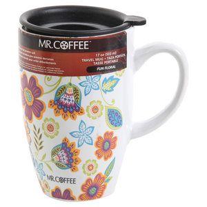 Mr Coffee 17 Oz Fun Fl Mug With Lid Multi Color Apartment Wish Ping List Pinterest Kitchen And Ceramics