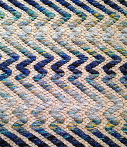 """Reflection"" Handwoven Rug  I found this beautiful sample of Lark Textile Design's ""Reflection"" in  Michael  Folks Showroom in the Seattle Design Center. When I take over the  looms, I will definitely continue to making this!"