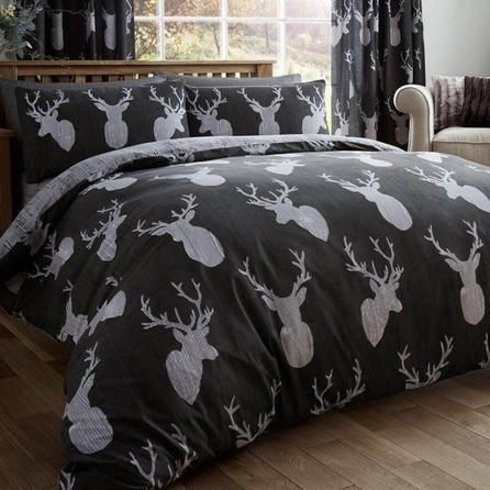 Stags Black #duvet Cover and Pillowcase Set