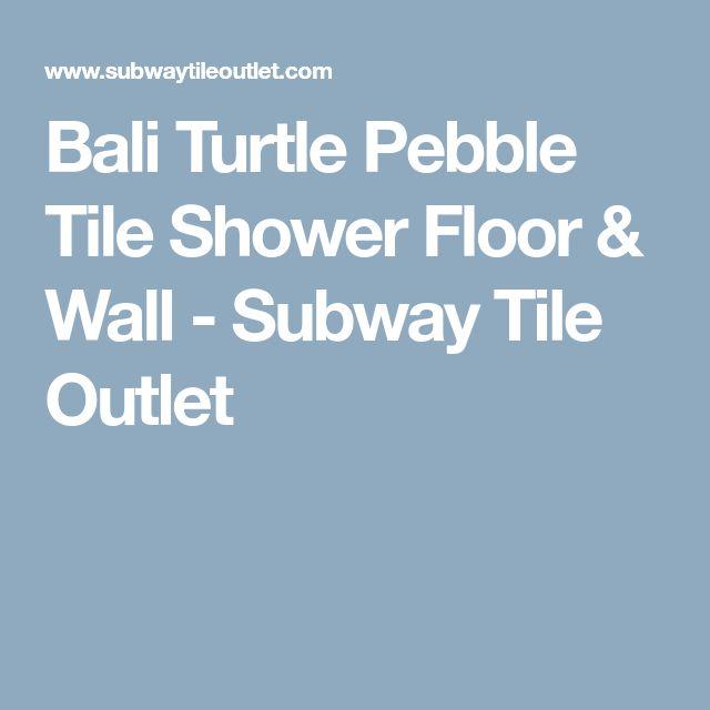 Bali Turtle Pebble Tile Shower Floor & Wall - Subway Tile Outlet