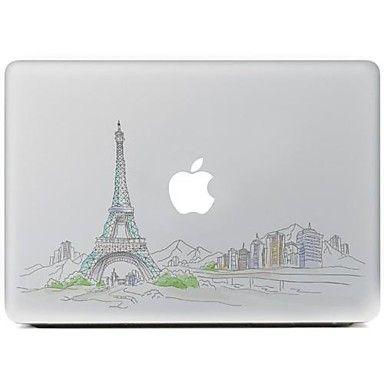 el diseño de la ciudad adhesivo decorativo para macbook air / pro / pro con pantalla de retina – MXN $ 112.01