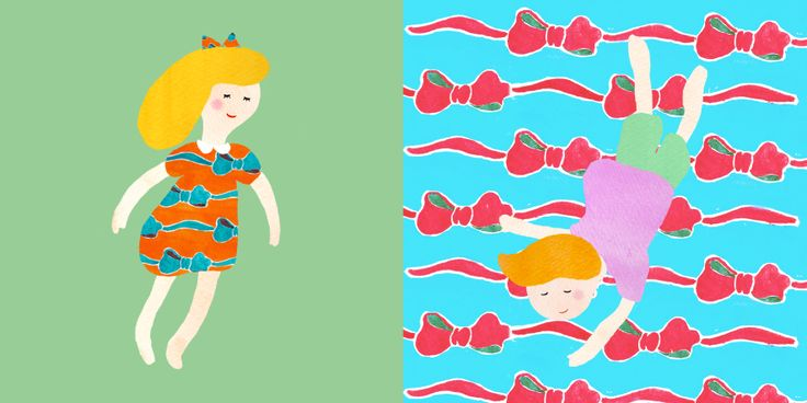 Ribbon #pattern #illustration