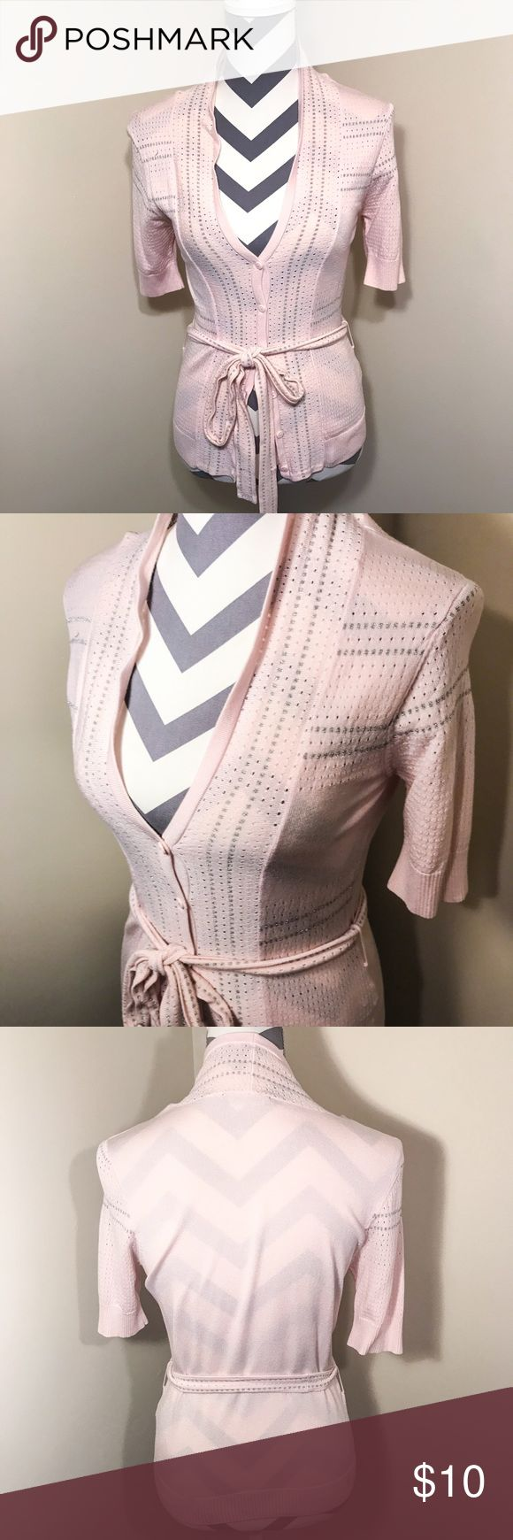 I just added this listing on Poshmark: Pink and Silver Cardigan Sweater. #shopmycloset #poshmark #fashion #shopping #style #forsale #Dolce Cabo #Sweaters