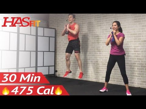 30 Minute HIIT Tabata Workout with Weights - Full Body Dumbbell High Intensity Workout at Home - YouTube