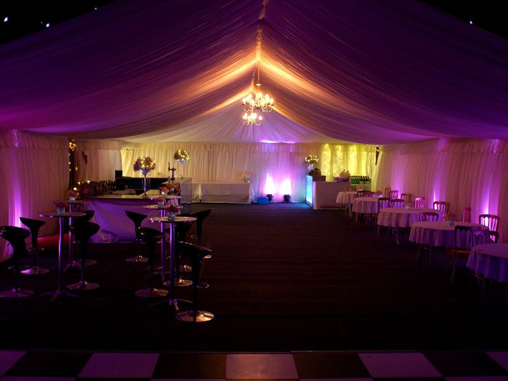 Painting with light. The best way to colour your marquee is with stunning colours and vibrant hues.