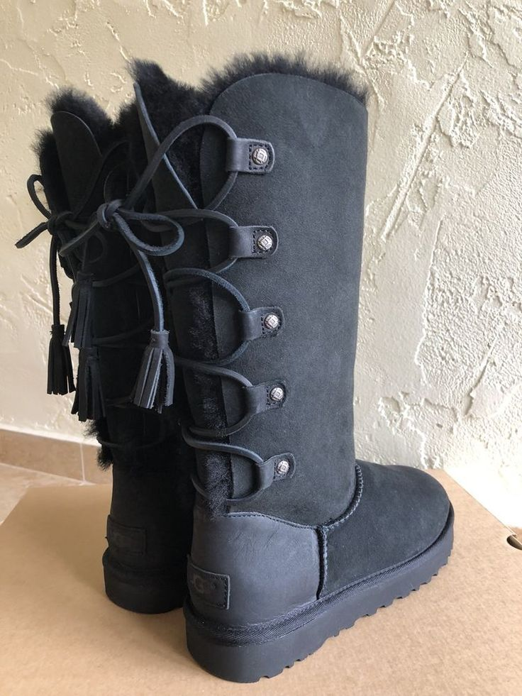 UGG Australia Kristabelle Tall Boots Black Size 7  | eBay