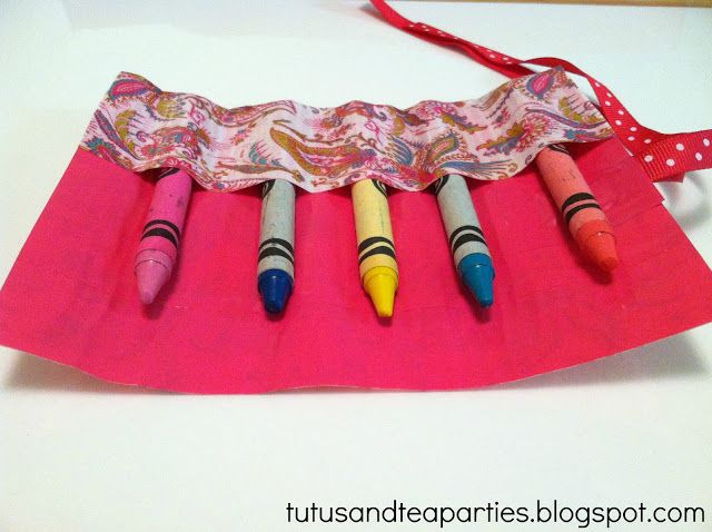 Tutus and Tea Parties: DIY Scotch Duct Tape Crayon Roll | #sponsored