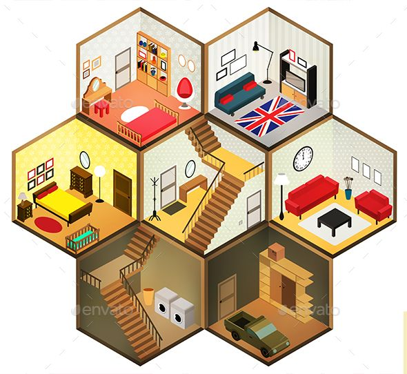 Download Free Graphicriver              Isometric Rooms Icon            #3d #apartment #architecture #bed #building #chair #children #decor #domestic #dresser #flat #floor #furnishing #furniture #garage #home #house #indoor #inside #interior #isometric #kids #living #modern #pictogram #plan #playroom #room #table #wardrobe
