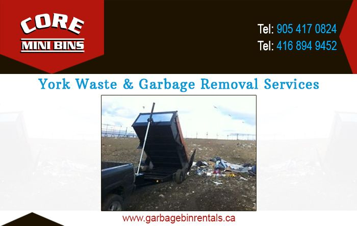 Core mini bins is a garbage and waste removal company in Toronto, Canada and…