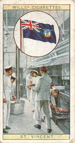 17 Flag of St.Vincent Flags Empire Cigarette Card 1926