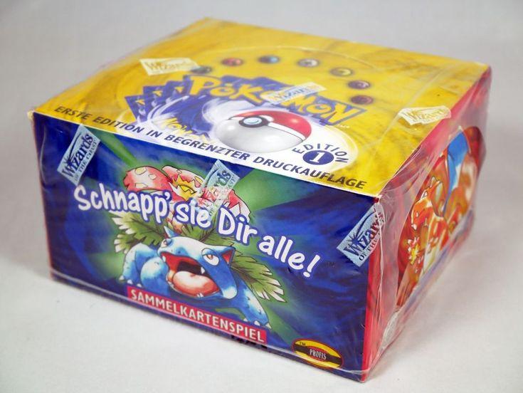 1st edition german base set pokemon booster box display