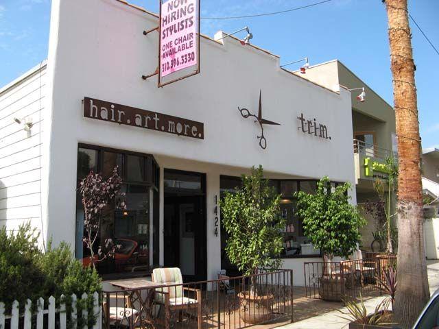 Trim Hair Salon Abbot Kinney Blvd Venice California 90291 Beach Pinterest And