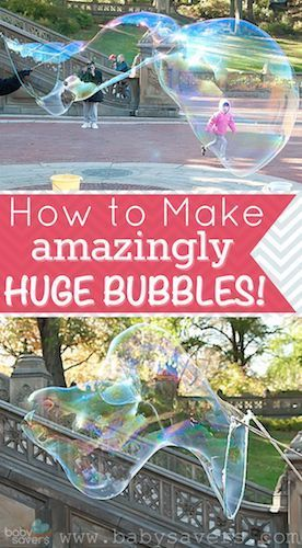 How to make bubbles: the best homemade bubble recipe for huge bubbles