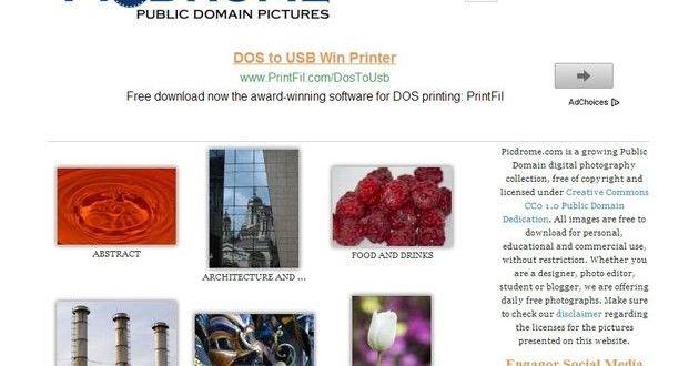 Buscador de fotos de dominio público #directorio #buscador #imágenes