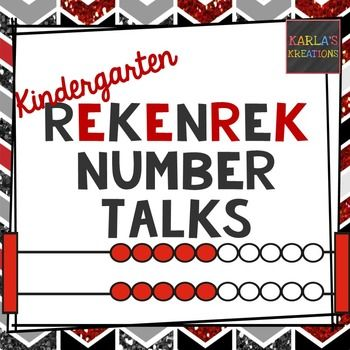 Rekenreks are a great way for students to practice subitizing.  And, number talks are a great way to develop number sense in young children. Based on Sherry Parrish's model of Number Talks, this resource includes large cards that can be used in whole group or small group.