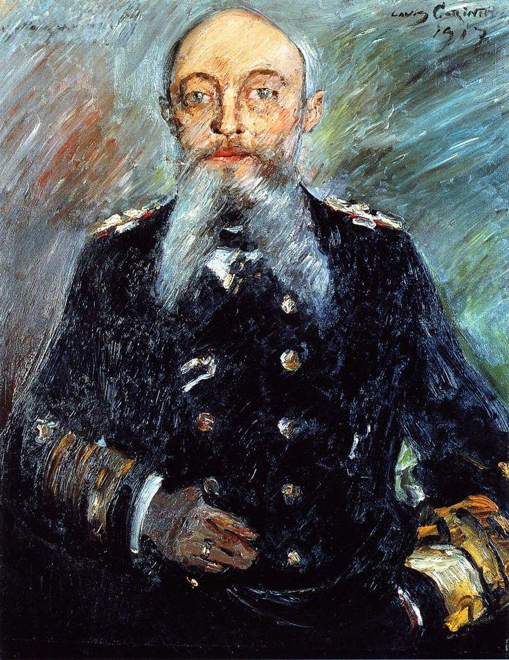 The Athenaeum - Portrait of Admiral Alfred von Tirpitz, 1917 (Lovis Corinth - )