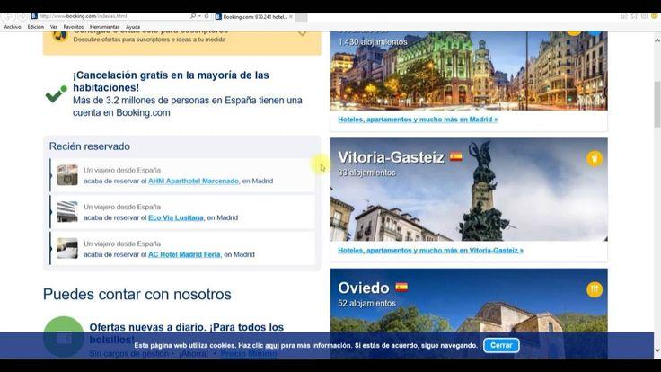 Hoteles baratos como encontrar hoteles en Benidorm o disfrutar de unas vacaciiones en Madrid o Barcelona, o buscar alojamiento en ciudades como Paris Londres New York Roma, un tutorial de las mejores ofertas de Hoteles que existen en el mundo de la mano de la conocida web internacional Booking