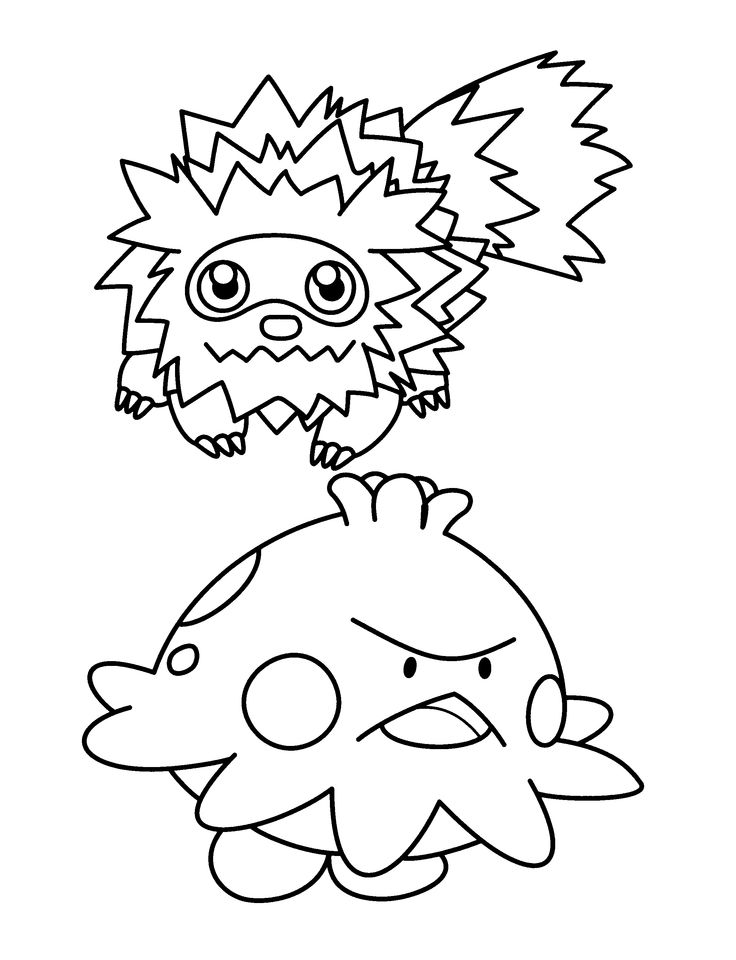 pokemon group coloring pages - photo#40