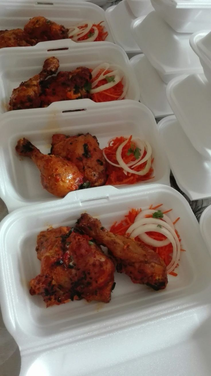 Flame grilled Tandori chicken and salad