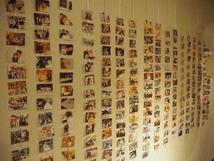 ★ウェルカムスペース② ✒壁いっぱいに写真を飾りました「#photoarrange」はゲスト全員が写っている写真をプリンターで印刷して、リボンでぶら下げました。当日は自分が写っている写真を見つけてくれるゲストがたくさんいました。 #ウェルカムスペース #前室装飾 #結婚式DIY #写真装飾 #コラージュ #品川プリンスホテル #品プリ #プリンスホテル #結婚式 #挙式 #花嫁 #卒花 #卒花嫁 #ホワイトチャペル #披露宴 #ナチュラルウエディング #エメラルド #披露宴会場 #20160611wedding #20160611 #パーフェクトウェディング #ウエディング #ウェディング #品プリ婚 #プリンスウエディング #さち婚 #yukawanowedding #結婚式レポ #marryxoxo