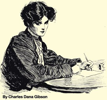 Charles Dana Gibson and his Gibson girls...I have collected many postcards and bookplates with Gibson girls or drawings like them.  Love the Edwardian style, I guess.