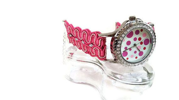 Personalized Watch Women Cute Watch Colorful by HarmonyHourWatches