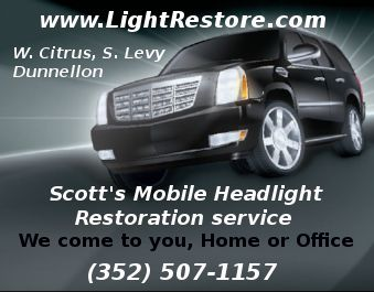 Scott's Mobile Headlight Restoration Service located in Inglis, FL.