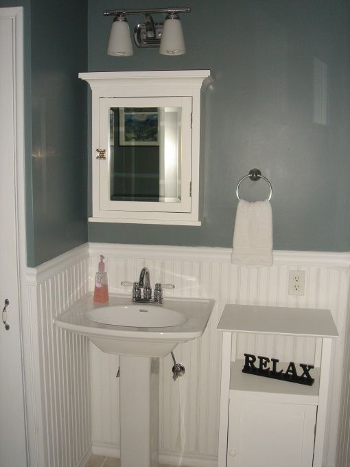 17 best powder room ideas images on pinterest bathroom bathrooms and small baths. Black Bedroom Furniture Sets. Home Design Ideas
